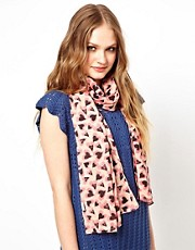 Liquorish Heart Print Scarf