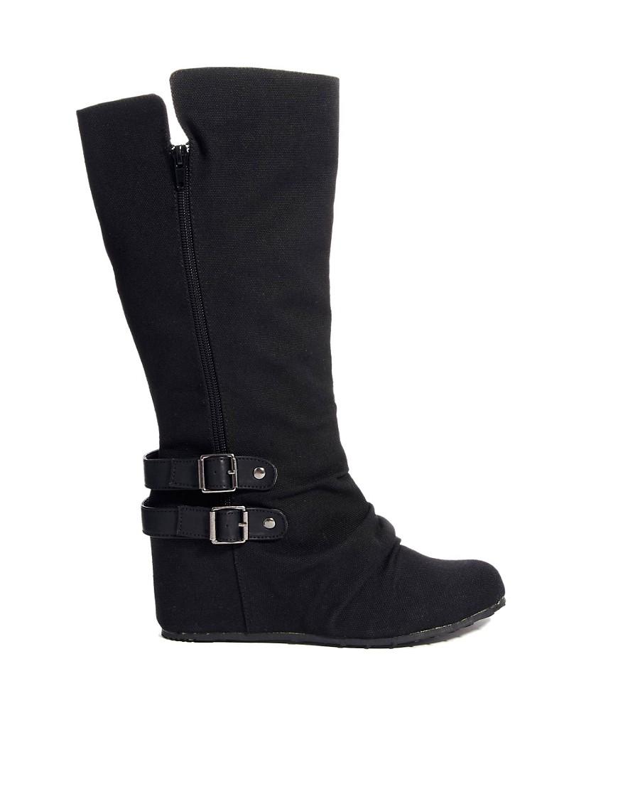 Call It Spring Koleckar Knee Boots - Black