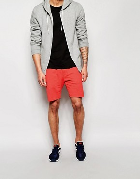 Solid Drop Crotch Sweat Shorts with Zips
