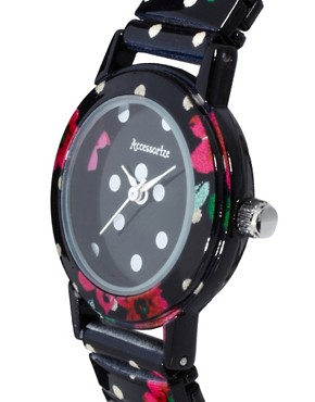 Image 4 ofAccessorize Spot &amp; Flower Watch