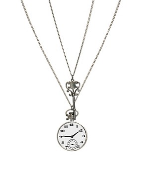 Image 1 ofRiver Island Clock And Key Necklace Pack