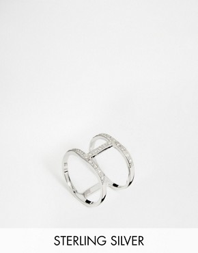 V Jewellery Simplicity Spine Ring