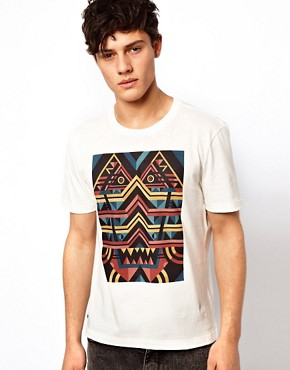 Image 1 ofLacoste Live T-Shirt with Tribal Print