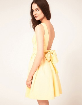 Image 1 ofBoutique By Jaeger Bow Back Prom Dress