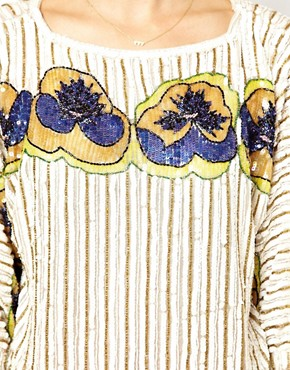 Image 3 ofASOS Top with Pansy All Over Embellishment