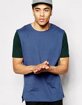 ASOS T-Shirt With Contrast Sleeves In Relaxed Fit