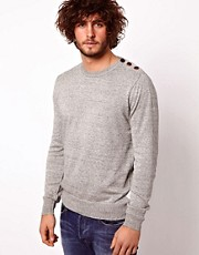 Paul Smith Jeans Jumper with Button Shoulder