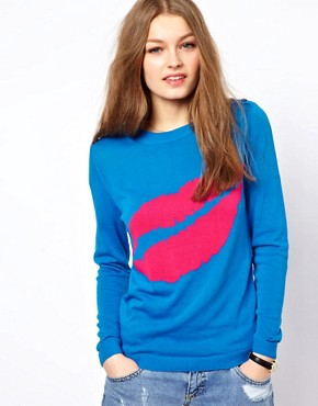 Image 1 ofA Wear Lip Print Jumper