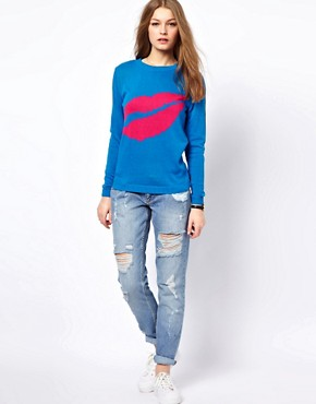 Image 4 ofA Wear Lip Print Jumper
