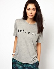 Lulu & Co  Mary McCartney  T-Shirt mit Believe-Schriftzug