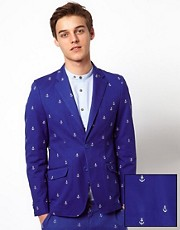 Vito Blazer With Anchor Embroidery