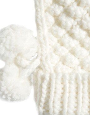 Image 2 ofFrench Connection Bobble Bubble Mittens