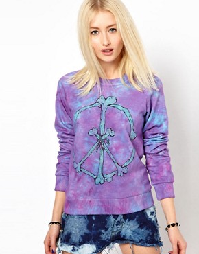 Image 1 of Worn By Peace & Bones Tie Dye Sweatshirt