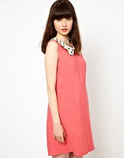 Pop Boutique Dress with Spot Collar