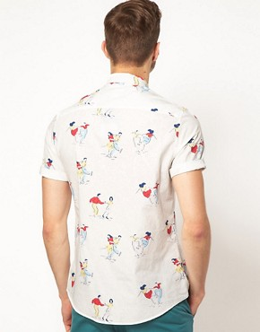 Image 2 of ASOS Shirt With 50's Print