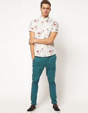 Image 4 of ASOS Shirt With 50's Print