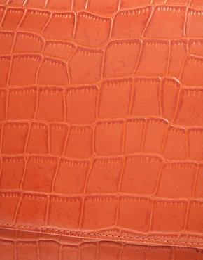 Image 2 ofASOS Envelope Laptop Case In Faux Croc Effect