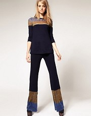 ASOS Metallic Knitted Flares