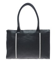 Ameko Leather Structured Handbag