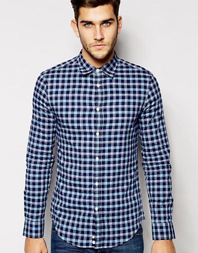 United Colors of Benetton Check Shirt in Slim Fit