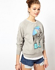 Brat &amp; Suzie Grey Melange Donkey Sweater