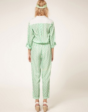 Image 2 ofASOS Jumpsuit with Wave Print
