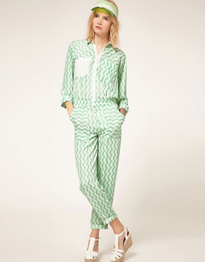 Image 4 ofASOS Jumpsuit with Wave Print