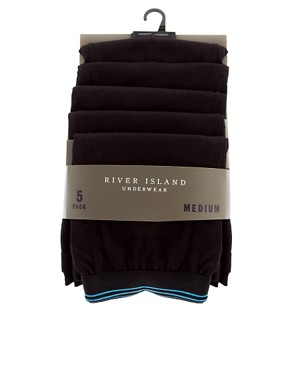 Bild 4 von River Island  Unterhosen mit farbigem Rand im 5er-Pack