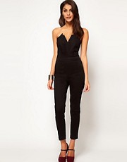 ASOS Jumpsuit With Pleat Bust Origami Detail