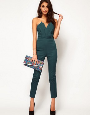 Image 4 ofASOS Jumpsuit With Pleat Bust Origami Detail