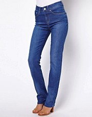 ASOS Marney Straight Leg Jeans in Vintage True Blue