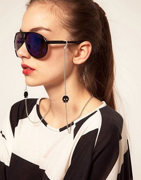 Image 2 ofASOS Skull Sunglasses Chain
