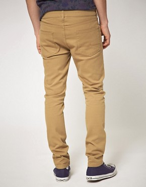Image 2 ofASOS Tan Skinny Jeans