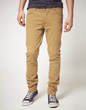 Image 1 ofASOS Tan Skinny Jeans