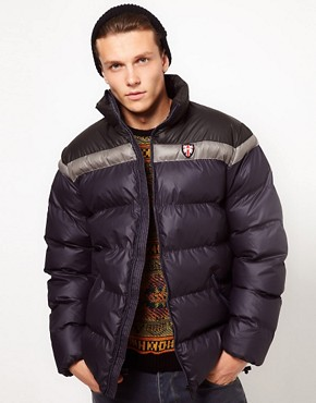 Image 1 ofPuffa Jacket with Contrast Shoulders