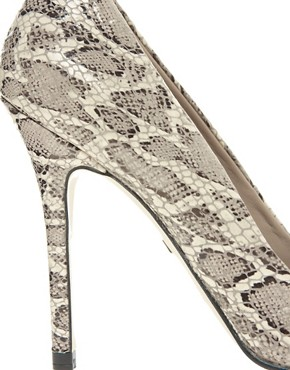 Image 2 ofWhistles French 75 Snake Print Court Shoes