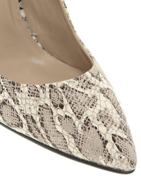 Image 3 ofWhistles French 75 Snake Print Court Shoes