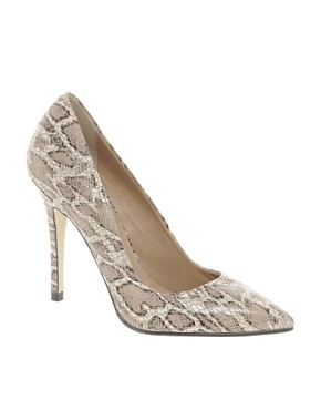 Image 1 ofWhistles French 75 Snake Print Court Shoes