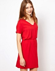 American Vintage Jac Tee Dress With Tie Belt