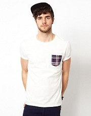 ASOS T-Shirt With Check Pocket