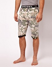 Diesel Reverse Camo Cotton Shorts