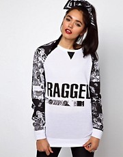 The Ragged Priest Oversized Sweatshirt in Bandana Print