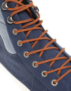 Image 2 ofASOS Chambray High Tops