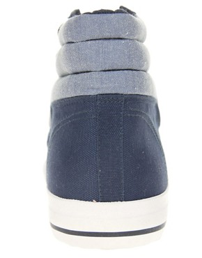 Image 4 ofASOS Chambray High Tops