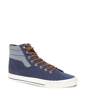 Image 1 ofASOS Chambray High Tops