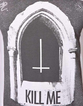 Image 3 ofYour Eyes Lie T-Shirt with Kill Me Print