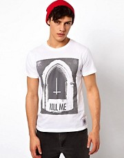"Your Eyes Lie - T-shirt con scritta ""Kill me"""