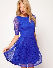 ASOS Skater Dress In Lace