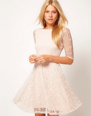 Image 1 ofASOS Skater Dress In Lace