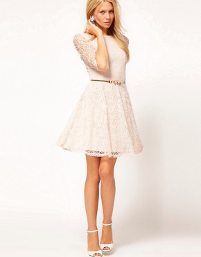 Image 4 ofASOS Skater Dress In Lace
